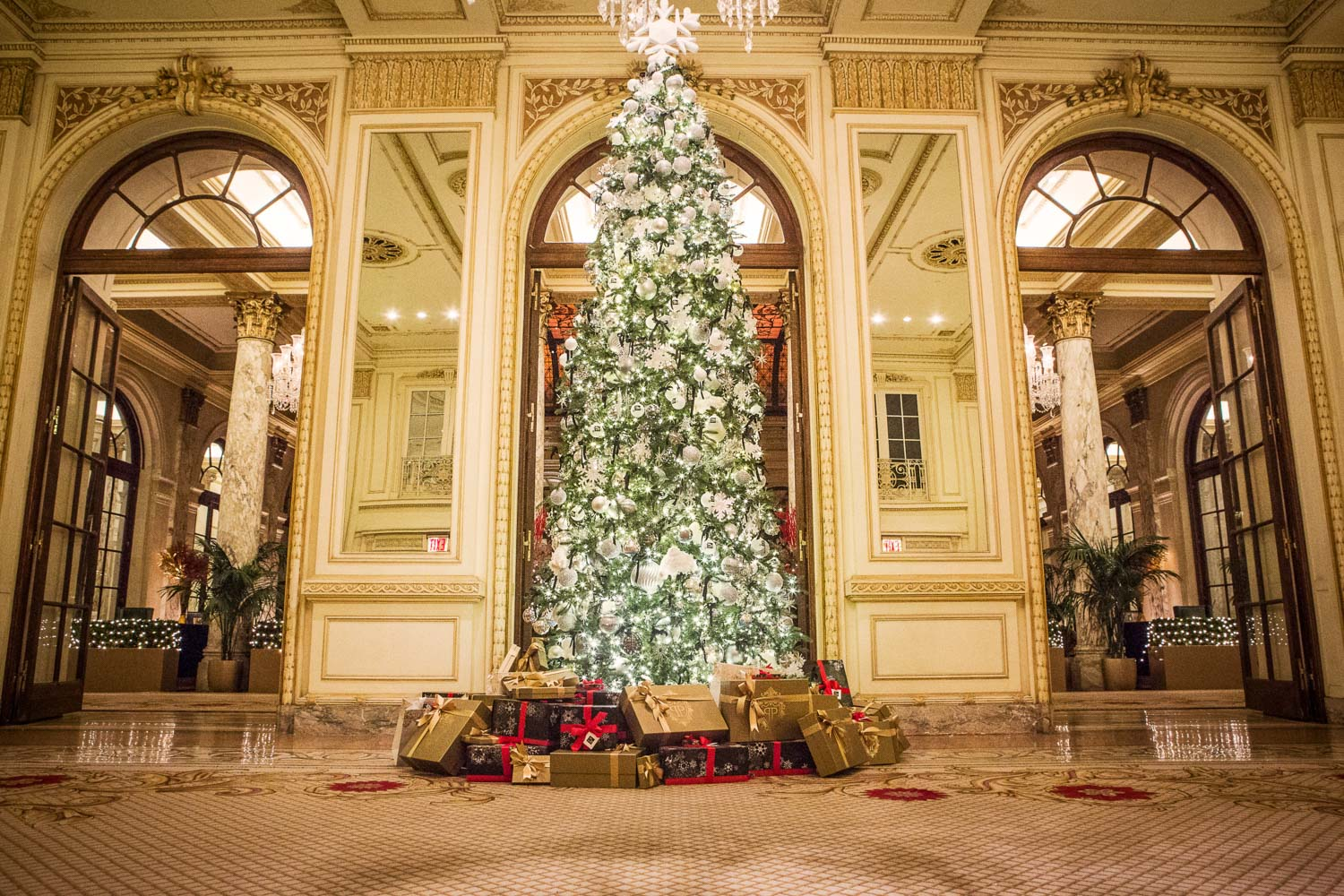 The Plaza Hotel in New York at Christmas