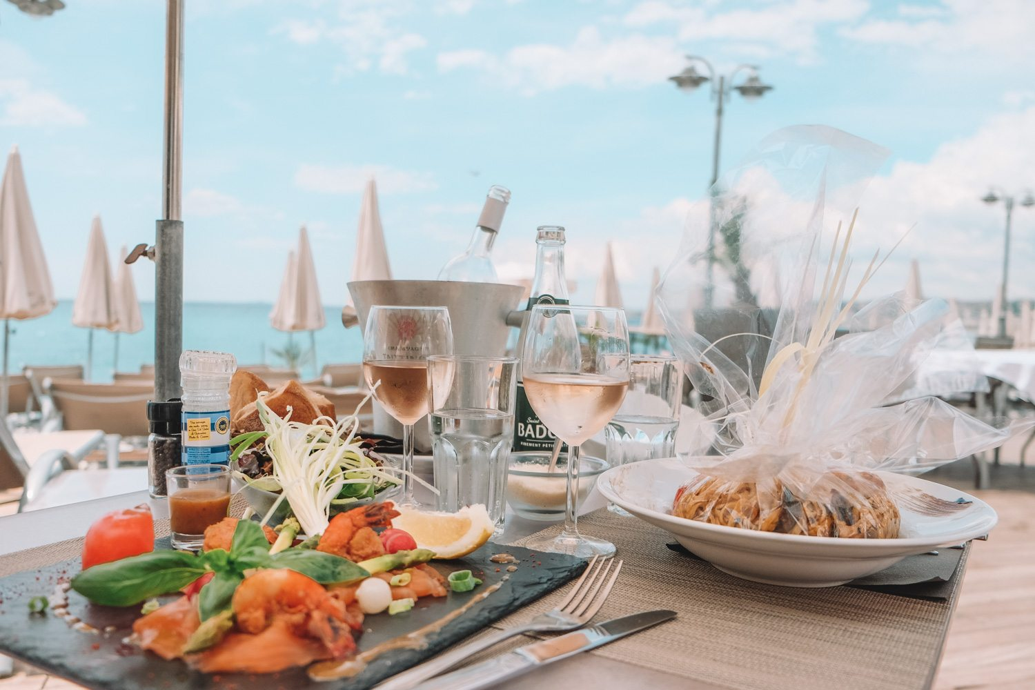 Lunch and Rose in Nice