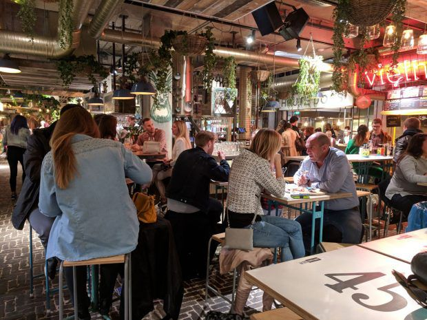 eindhoven restaurant - the food market in downtown