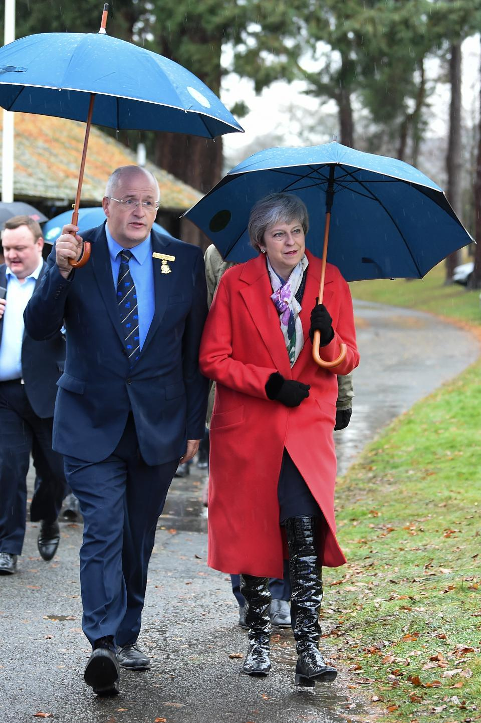 Theresa May travels to Northern Ireland and Wales to save her Brezit contract.