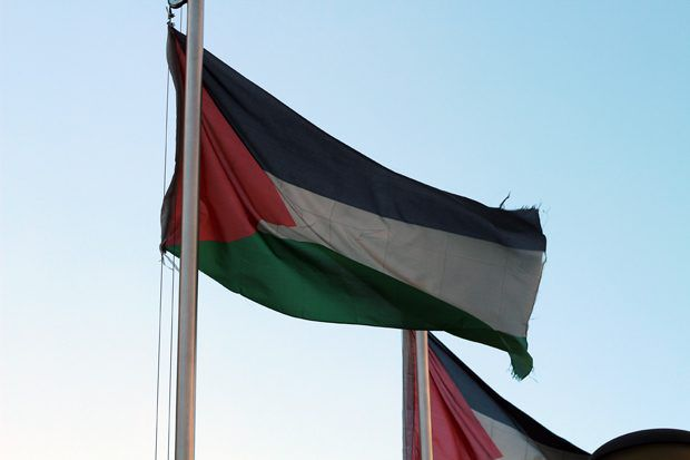 Palestinian flag of Nablus