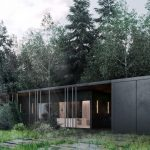 Cubic, better known as Black Villa, was created by ARCHSLON to fit the surrounding forests.