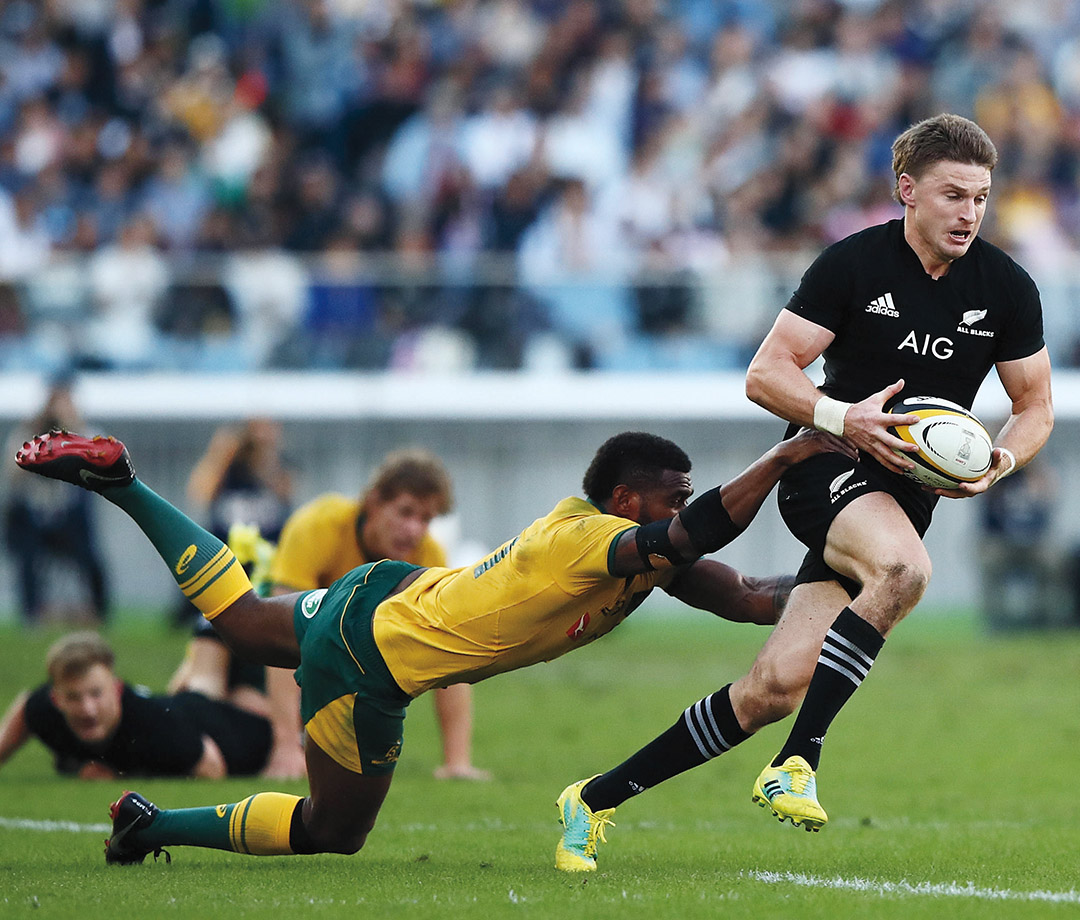 Beauden Barrett in Cape Town, South Africa, 2017