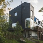 Home and Dike Extension created by Walden Studio to give the young family a great view