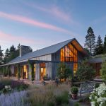 The beautiful garden house of Olson Kundig made wood from floor to floor