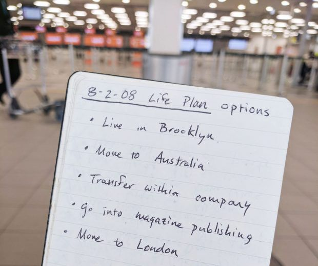 life plan choices - journal entry